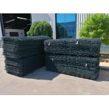 2M * 1M * 1M PVC revestido Gabion Wire Mesh Box