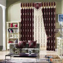 Nouvelle vente chaude de luxe réelle faite les dernières créations de rideaux à vendre