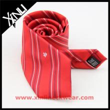 Corbata de seda bordada aduana de lujo de la etiqueta privada para hombre