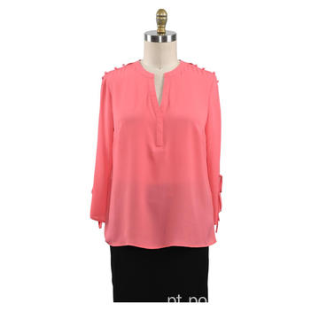 Blusa de mangas compridas Casual Ladies Shirt