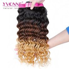 Extension de cheveux Ombre profonde vague péruvienne