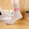 Calcetines de tubo de niño lindo de algodón orgánico tipo termal
