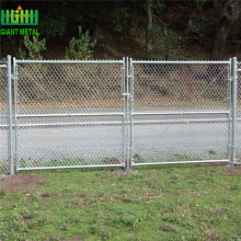 Galvanized Antique Chain Link Pagar Logam Gate