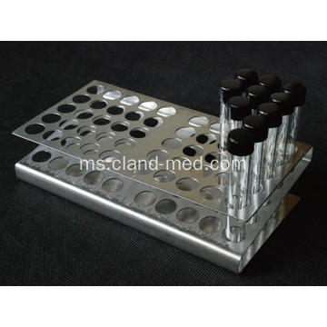 Z Jenis Stainless Steel Tube Rack 50 Tempat