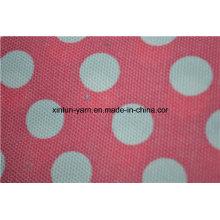 Tecido de sofá de saco de feijão de lona de algodão de poltrona de saco de feijão de pontos brancos