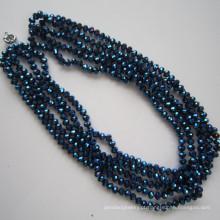 5 linhas brilhantes colar de cristal, moda joias