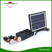 Mini système d'alimentation solaire avec projecteur à LED Kit Home Solar avec panneau solaire détaché avec port USB pour charge mobile
