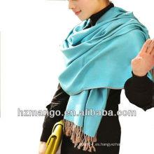 Bufanda y mantón de viscosa de color sólido de doble cara