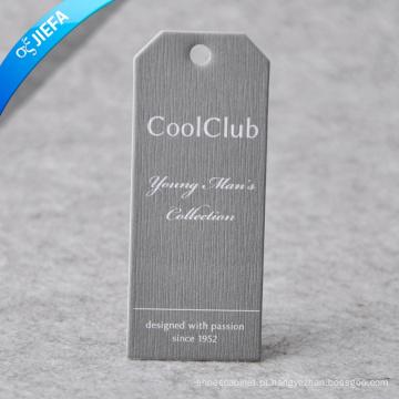 Etiqueta de papel em relevo com logotipo da marca / etiqueta pendurada para roupas