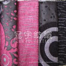 Imitación de lino 100% tejido de poliéster para decoración