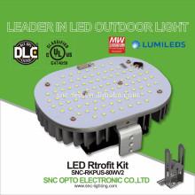 Jogos de retrofit aprovados 80W da luz do parque de estacionamento do diodo emissor de luz do UL da proteção do controle de temperatura