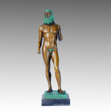 Nude Statue Greece Ricci Bronze Sculpture, Milo TPE-367