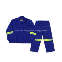 A set of blue overalls