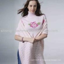 camisola de caxemira intarsia