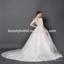 XF1080 muçulmano galina vestido de noiva por atacado / vestidos de noiva vestido de bola da China