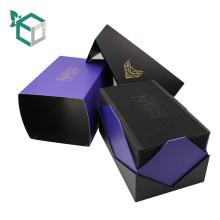 Mode lila Farbe Design Watch Box von EVA Tray mit Papier über