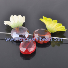Chapelet de perles en cristal facetté ovale