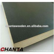 12mm película marrom enfrentou madeira compensada com núcleo de madeira (fábrica de madeira compensada)