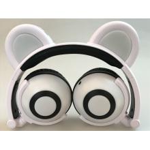 Наушники-мультипликационные наушники PandaСветящиеся проводные наушники