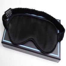 2021 high quality new 19mm pure silk  red black 100% silk eye mask masks for sleeping