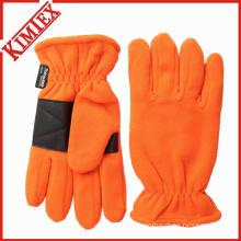 Outdoor Warmer Polar Fleece Glove with Rubber Patch