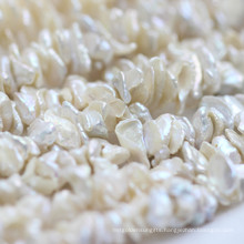 15mm White Keshi Pearl Strands Wholesale, Center Drilled Hole, E190011