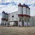 Electric towable concrete mixer concrete batching plant