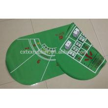 double side pocker table mat, double side fabric gambling table mat