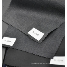 Classic black twill worsted 70%wool 30%polyester fabric for suit jacket uniform