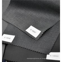 Sarja preta clássica lã worsted 70% lã 30% poliéster tecido para paletó uniforme