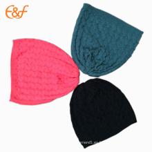 Sombrero de gorrita tejida de cable de bebé recién nacido personalizado