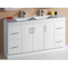 White Gloss MDF Bathroom Vanity (P6011-1500GD)