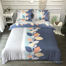 Luxurious Good Quality Bed Linen Cotton Printed Comfortable for Queen 4PCS Bed Sheet