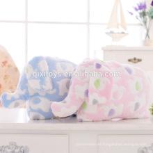 Cute Elephant Design Plush Animal Pillow Blanket para niños