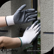 SRSAFETY preiswerter Preis / 13g Polyester Shell grau Nitril beschichtet / Hand Handschuhe
