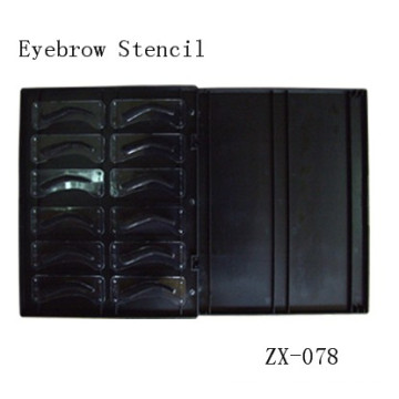 Goeochie S3d Bdlack Eyebrodw Tatdoo Stdencils Machine Set
