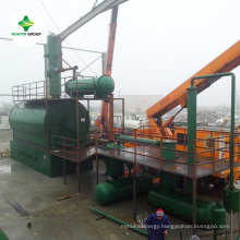 Waste engine oil tire curde oil plastic oil distillation equipment exported to 50 countries