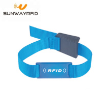 Custom Logo Printing Reusable RFID Nylon Wristbands