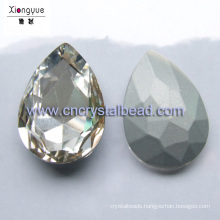 Silver coating water drop beads for jewelry finding and decoration