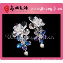 Date Mesdames Accessoires Clean Crystal Flower Vision Camée Boucles d'oreilles
