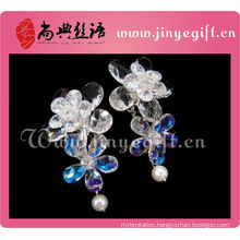 Newest Ladies Accessories Clean Crystal Flower Vision Cameo Earrings