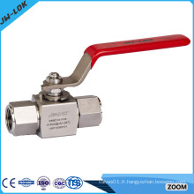 Robinet à bille haute pression en acier inoxydable de haute qualité