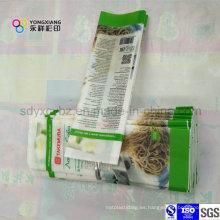 Bolsa de embalaje de plástico BOPP de 4 sellos para fideos