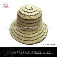 Fashion Short Brim Bucket Hat chapeaux en trousseau à la mode bon marché pour les femmes plage d'été