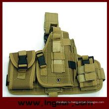Военный компонент тактические Molle падение ноги Пистолет кобуры комбо кобура