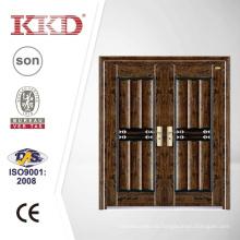 Lujo doble hoja seguridad puerta de acero KKD-312D