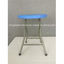 Móveis plásticos portáteis de cadeiras redondas