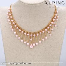 Diseños del collar de la perla 42551-Xuping, diseños más últimos del collar del grano de las mujeres, joyería del collar de la perla de la manera