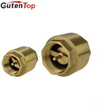 Gutentop High Quality American Style 3/4inch Lead Free Brass Spring Check Valve with NPT Threaded Ends