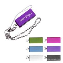 Mini lecteur flash USB OTG pivotant personnalisé